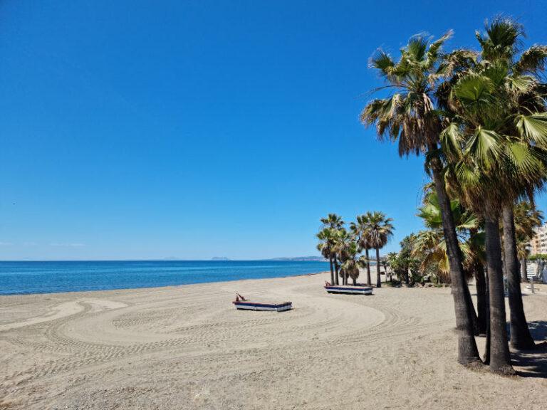 Vista de la playa de estepona